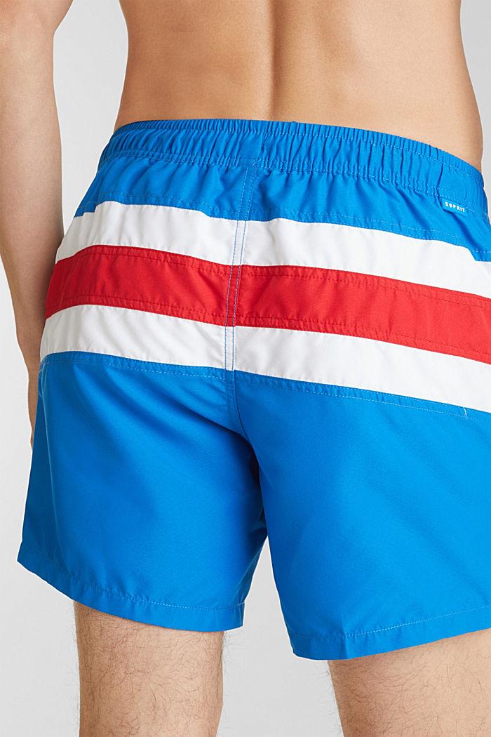 Zwemshort met gestreepte look, BRIGHT BLUE, detail image number 2
