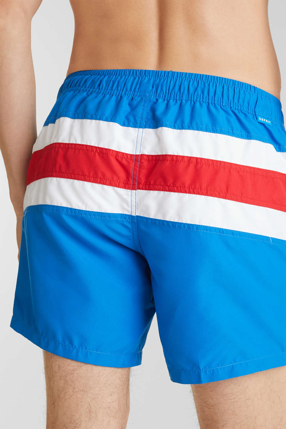 Striped look swim shorts, BRIGHT BLUE, detail image number 2