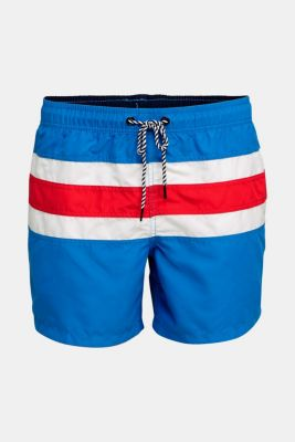 Striped look swim shorts, BRIGHT BLUE, detail