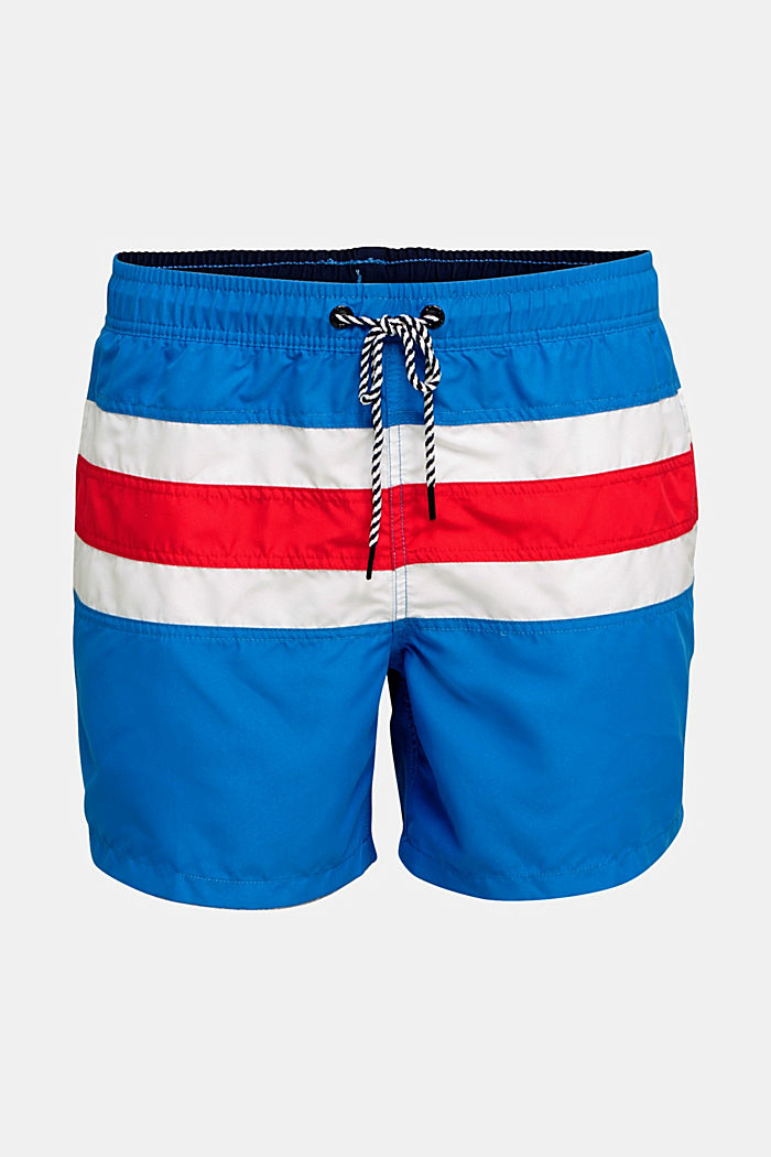 Striped look swim shorts, BRIGHT BLUE, detail image number 3
