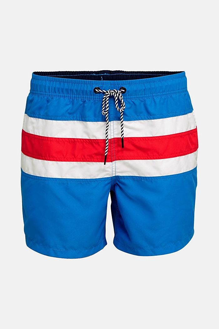 Bade-Shorts im Streifen-Look, BRIGHT BLUE, detail image number 3