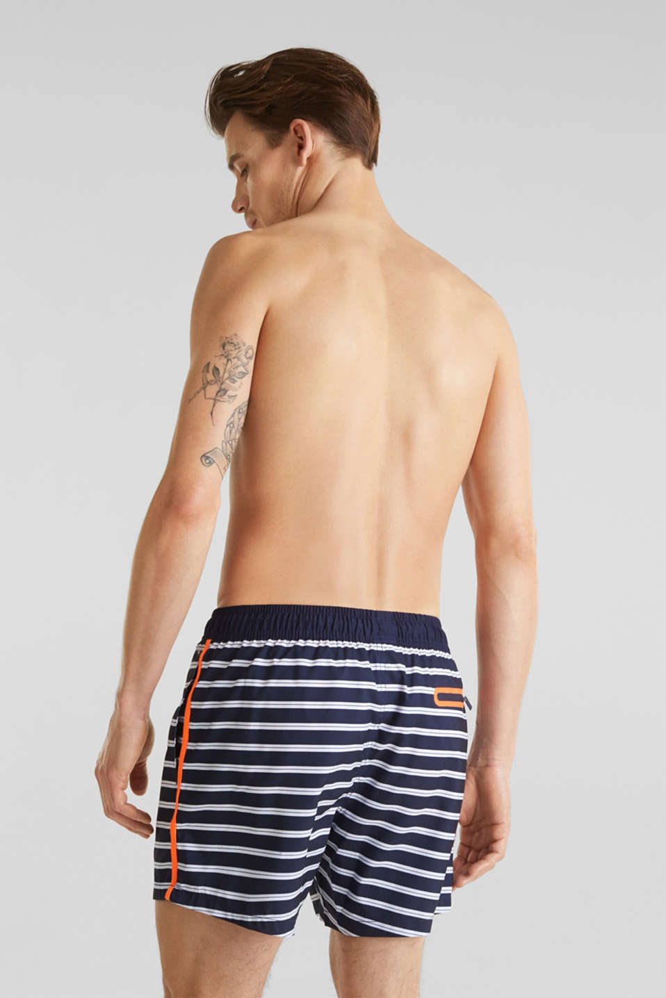 Swim shorts with stripes, NAVY 2, detail image number 1