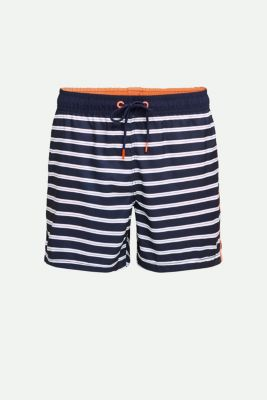 Swim shorts with stripes, NAVY 2, detail