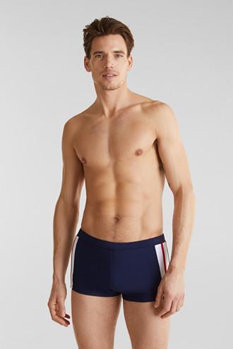 Retro swim shorts with stripes