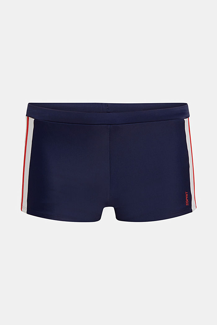 Retro-Bade-Shorts mit Streifen, NAVY, detail image number 3