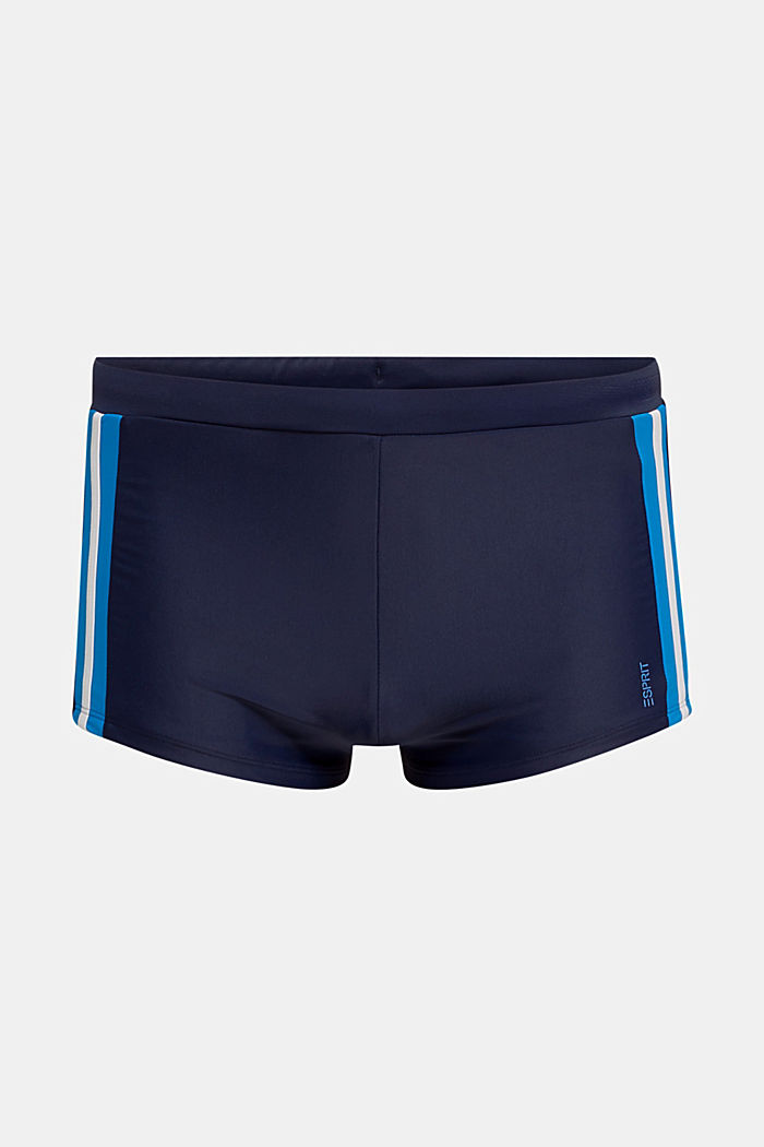 Retro swim shorts with stripes, NAVY, detail image number 3