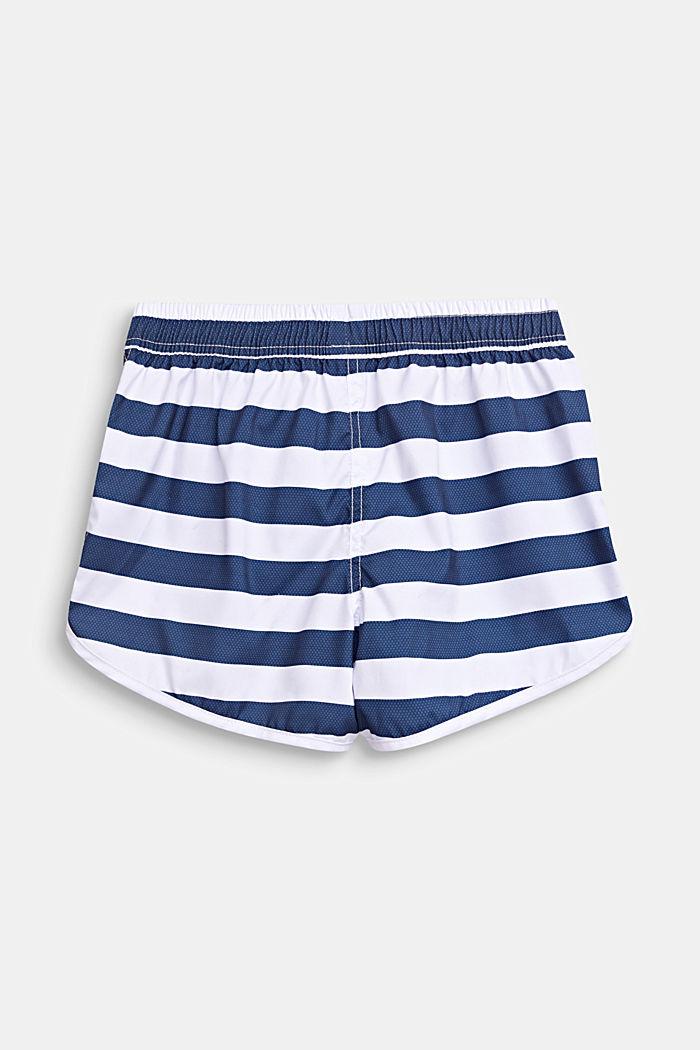 Striped swim shorts, DARK BLUE, detail image number 2