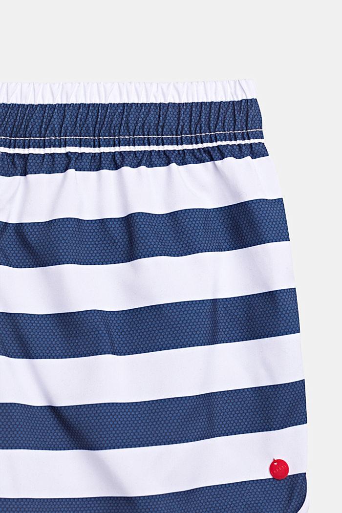 Striped swim shorts, DARK BLUE, detail image number 1