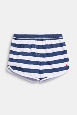 Striped swim shorts, DARK BLUE, detail