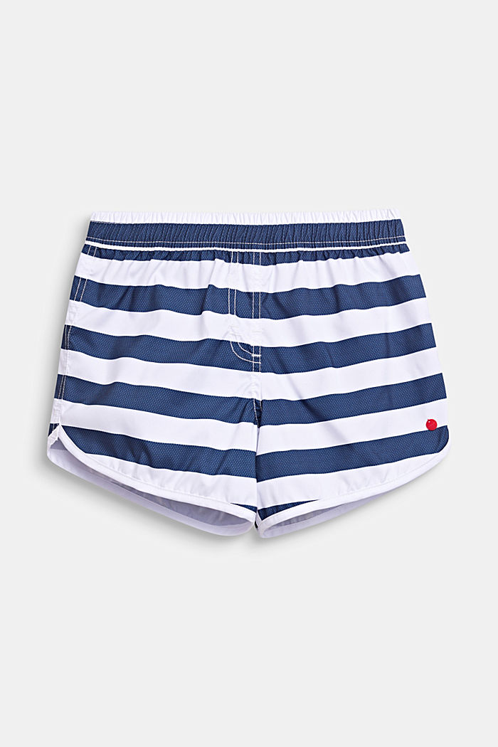Striped swim shorts, DARK BLUE, detail image number 0