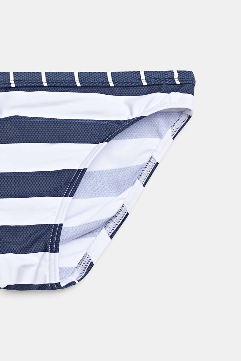Crop top bikini set with stripes, DARK BLUE, detail image number 2