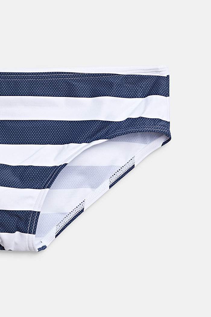 Striped crop top bikini, DARK BLUE, detail image number 2