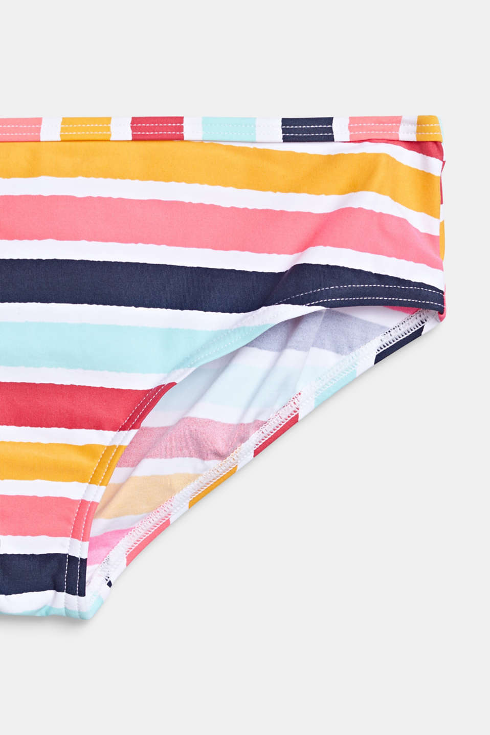 Crop top bikini set with multi-coloured stripes, SUNFLOWER YELLOW, detail image number 2