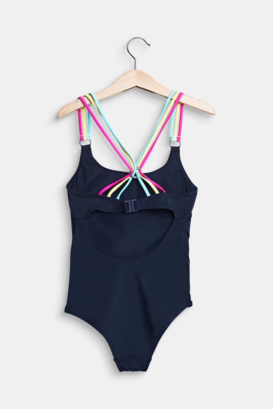 Colourful multi-strap swimsuit, NAVY 2, detail image number 1