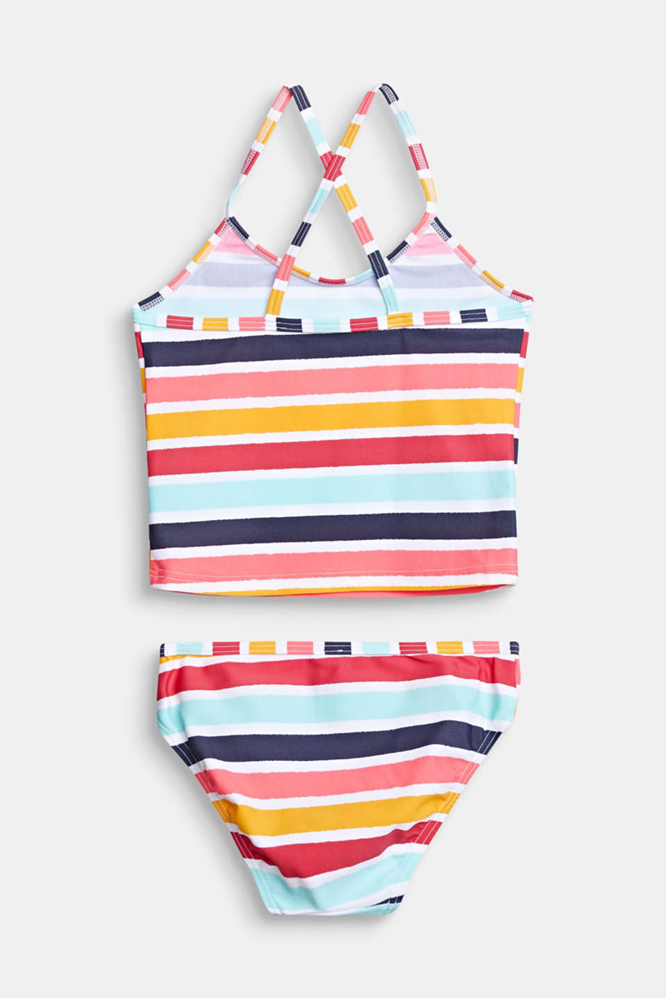 Tankini with multi-coloured stripes, SUNFLOWER YELLOW, detail image number 1