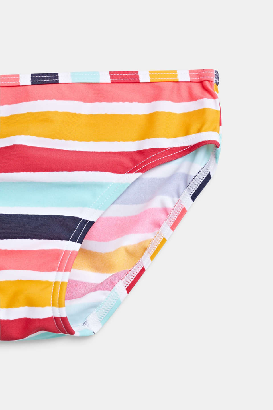 Tankini with multi-coloured stripes, SUNFLOWER YELLOW, detail image number 2