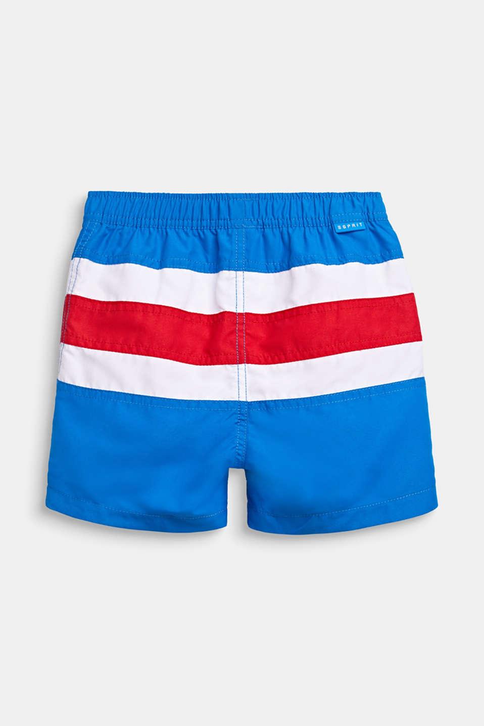 Striped swim shorts, BRIGHT BLUE, detail image number 1