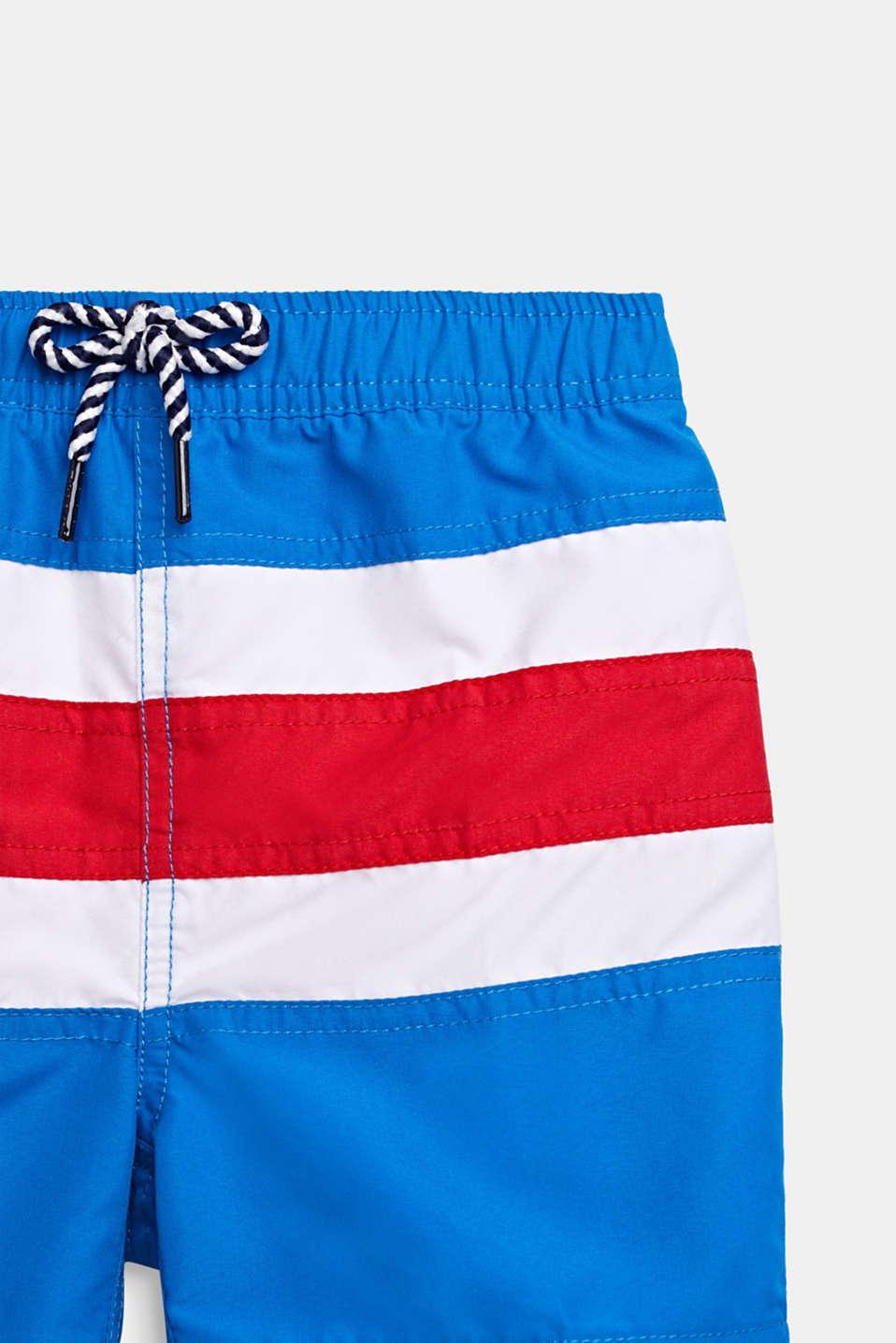 Striped swim shorts, BRIGHT BLUE, detail image number 2