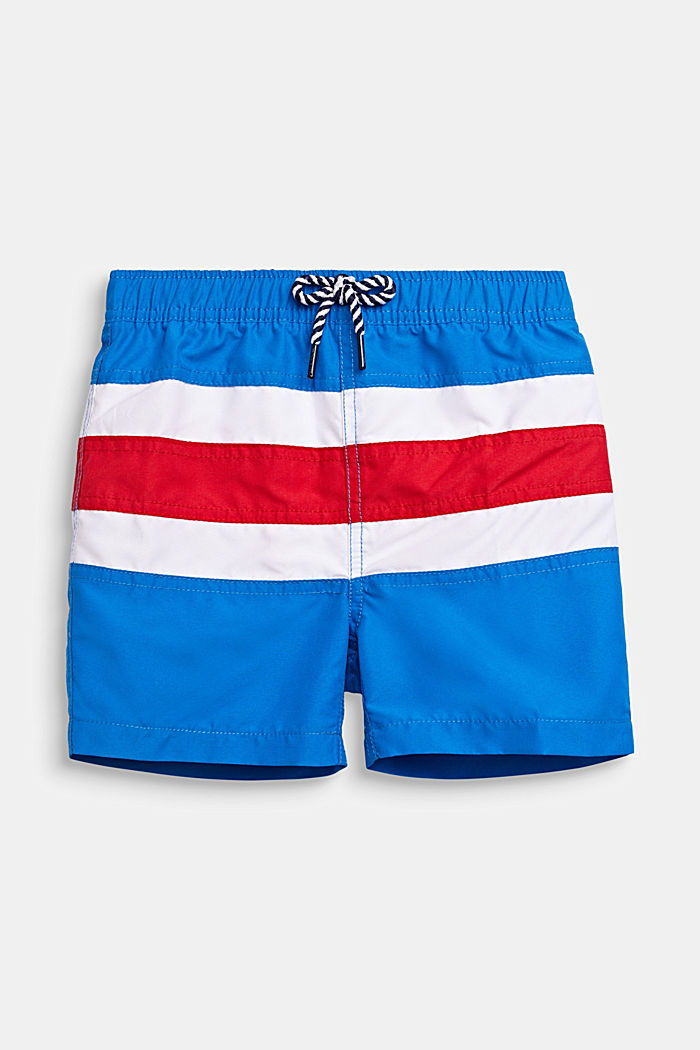 Badeshorts im Streifen-Look, BRIGHT BLUE, detail image number 0