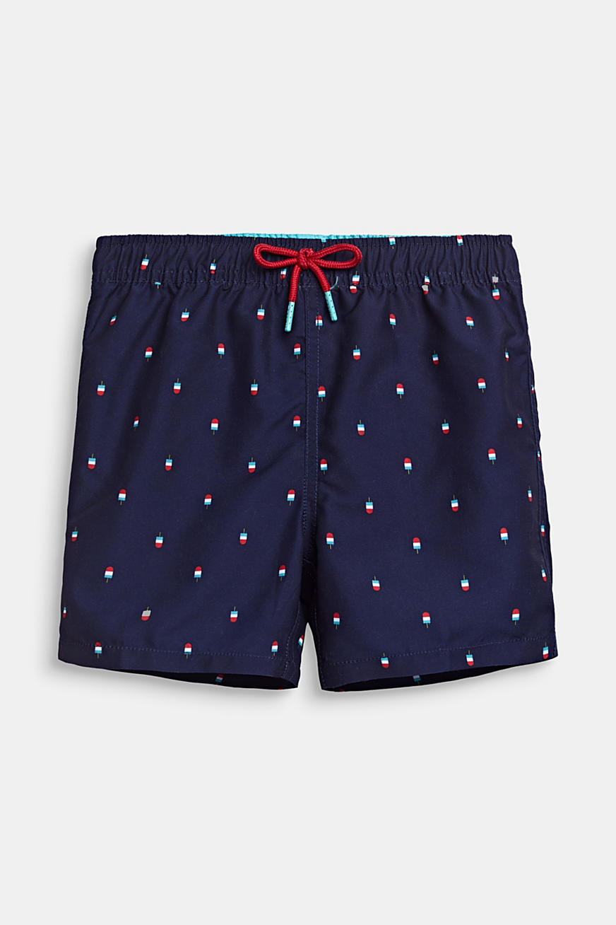 Swim trunks with a ice cream print