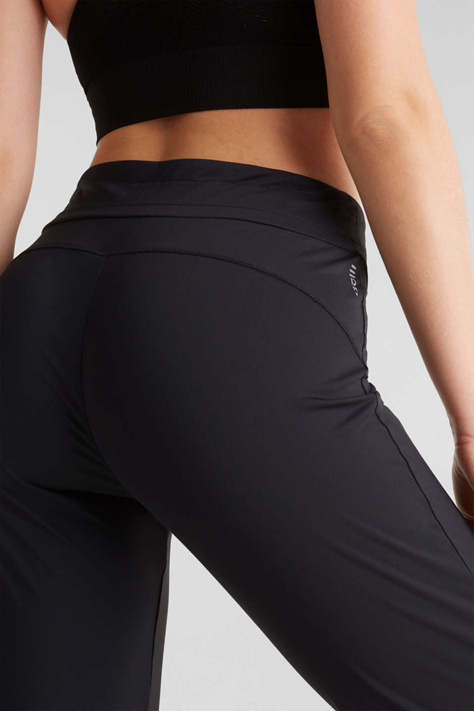 Active trousers with hem cuffs, E-DRY, BLACK, detail image number 5