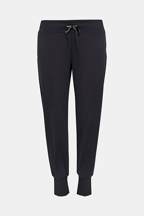 Active trousers with hem cuffs, E-DRY