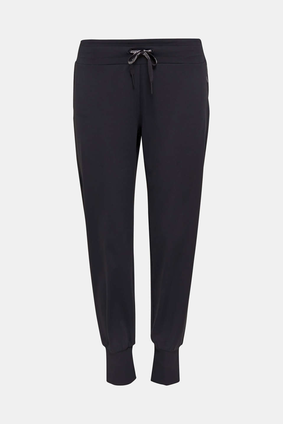 Active trousers with hem cuffs, E-DRY, BLACK, detail image number 6