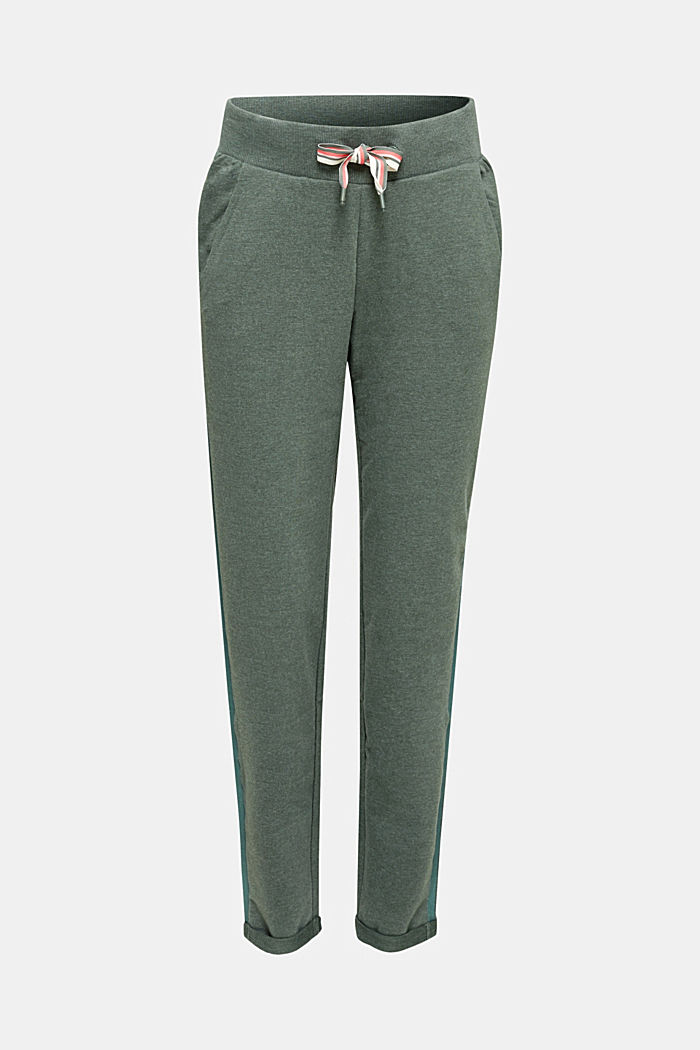 Jersey broek met glitterstrepen, LIGHT KHAKI, detail image number 0