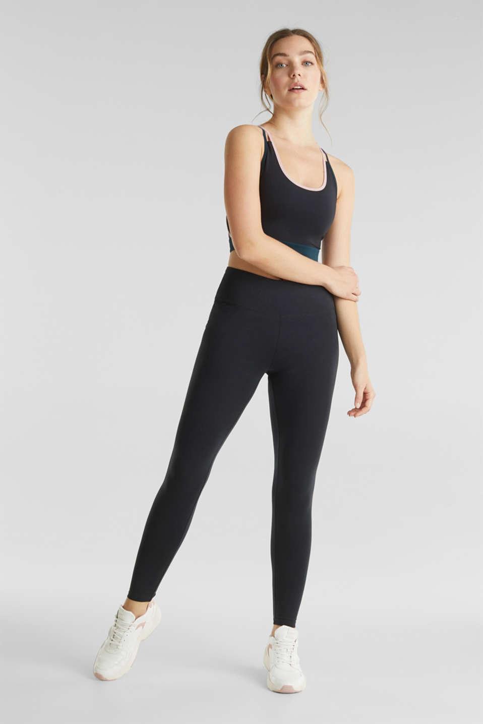 Esprit - Active leggings with a shiny print
