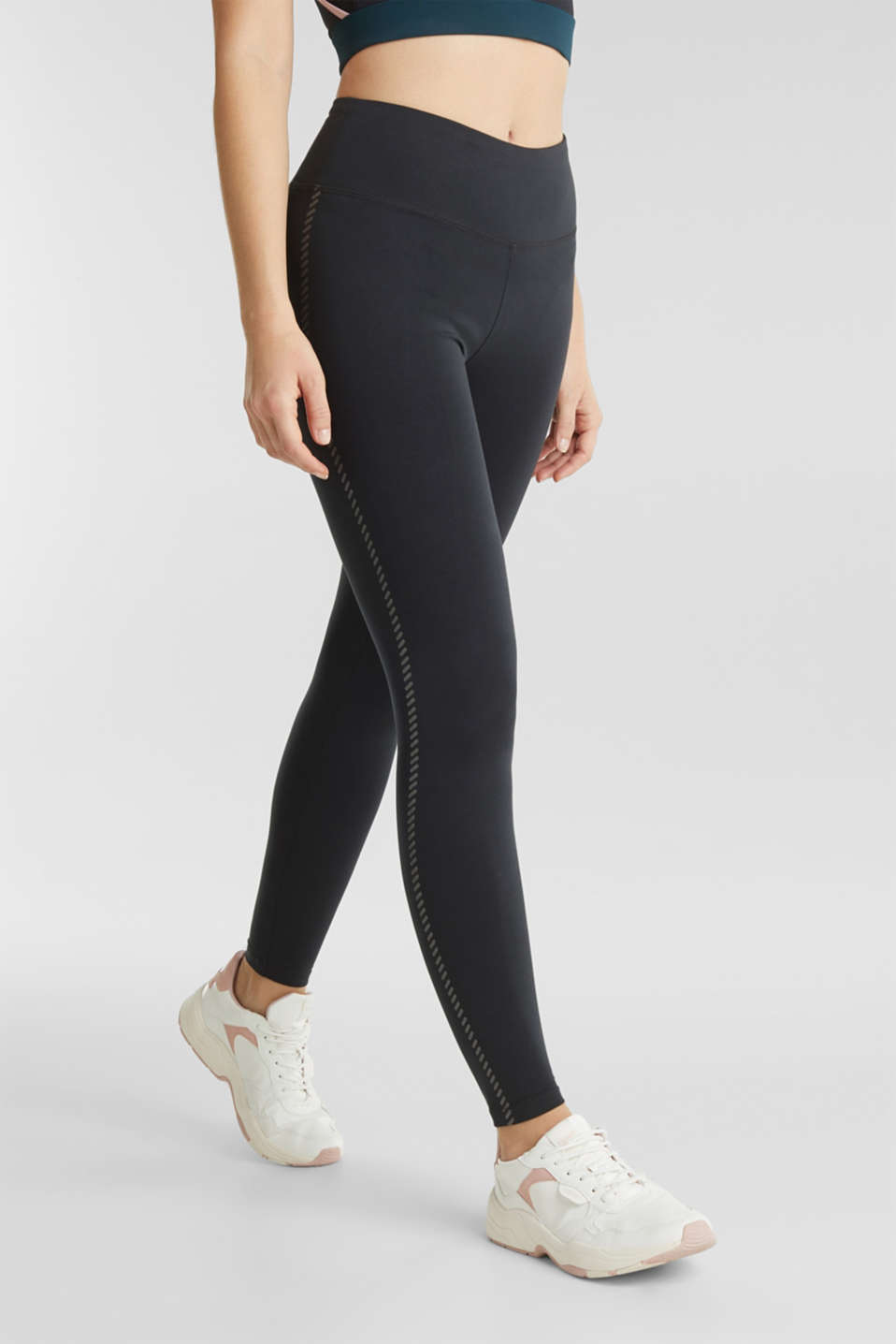 Active leggings with a shiny print, ANTHRACITE, detail image number 6