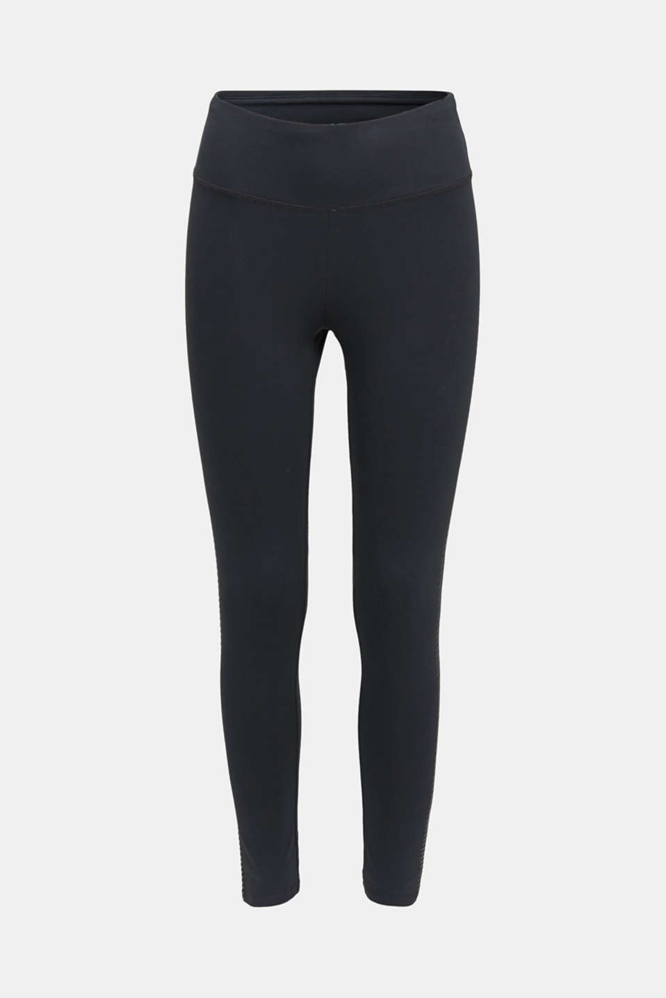 Active leggings with a shiny print, ANTHRACITE, detail image number 7