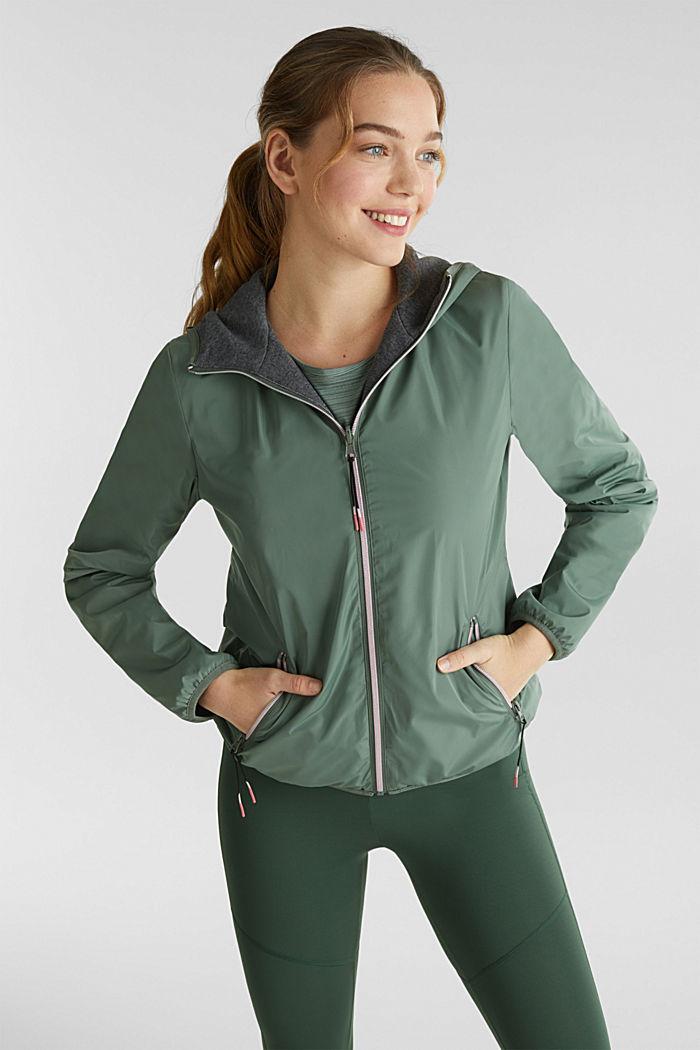 Reversible active jacket, LIGHT KHAKI, detail image number 0
