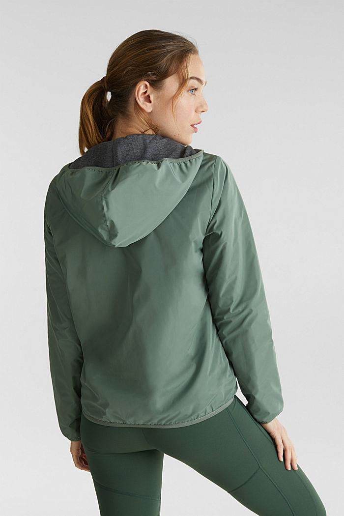 Reversible active jacket, LIGHT KHAKI, detail image number 3