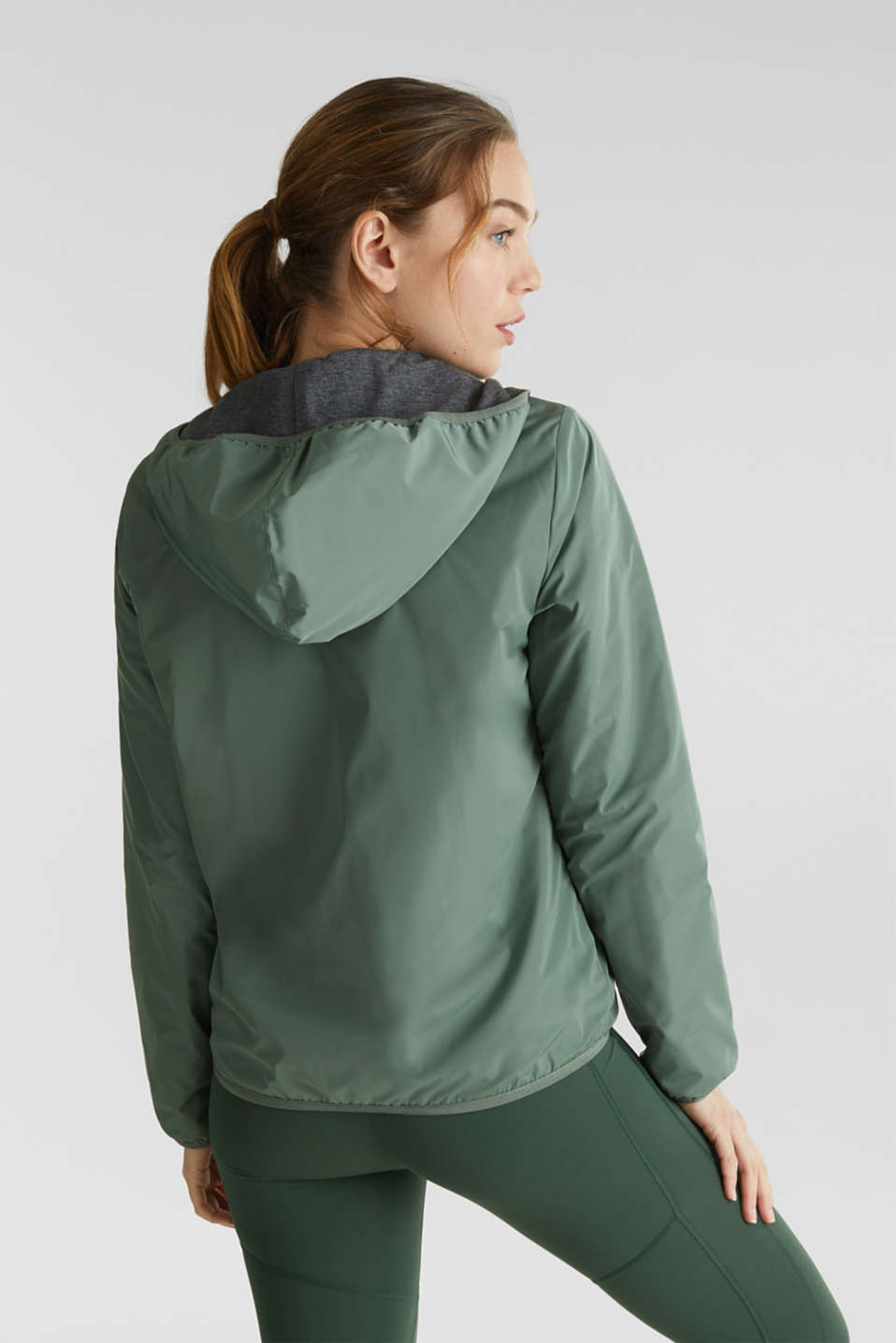 Reversible active jacket, LIGHT KHAKI, detail image number 3