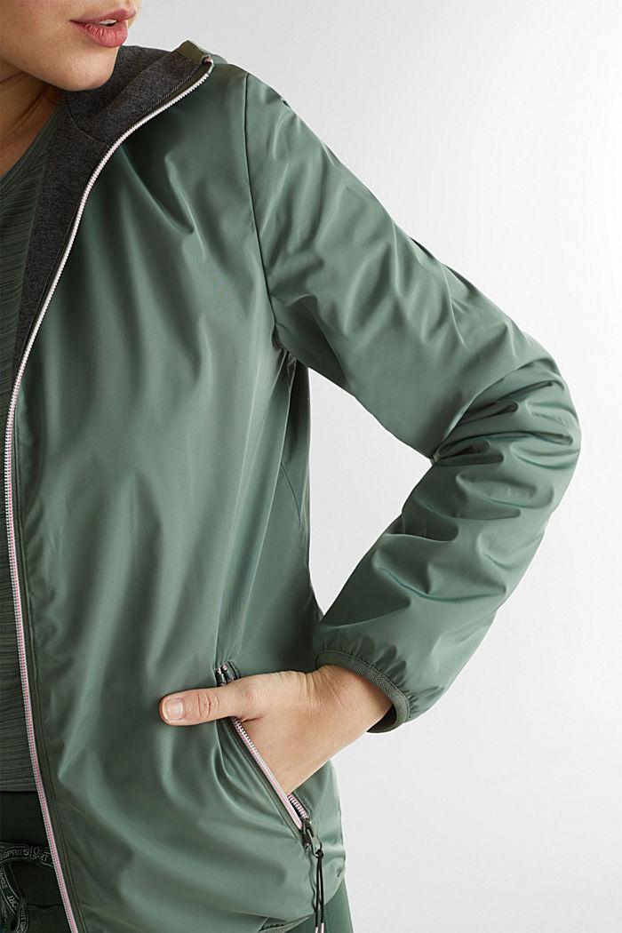 Reversible active jacket, LIGHT KHAKI, detail image number 2