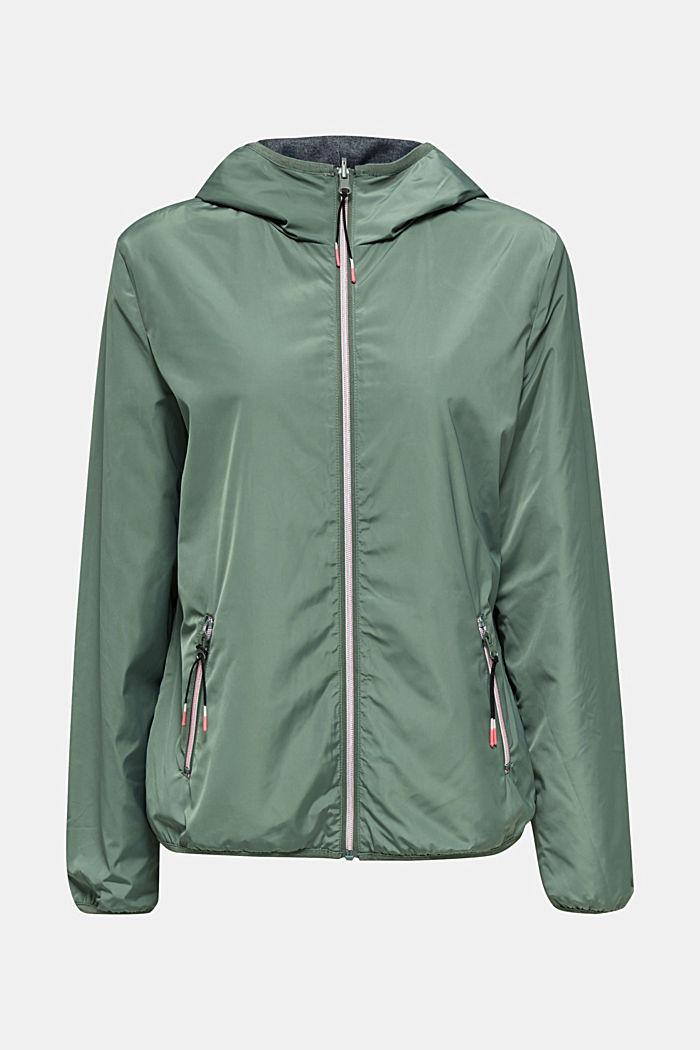 Reversible active jacket, LIGHT KHAKI, detail image number 7