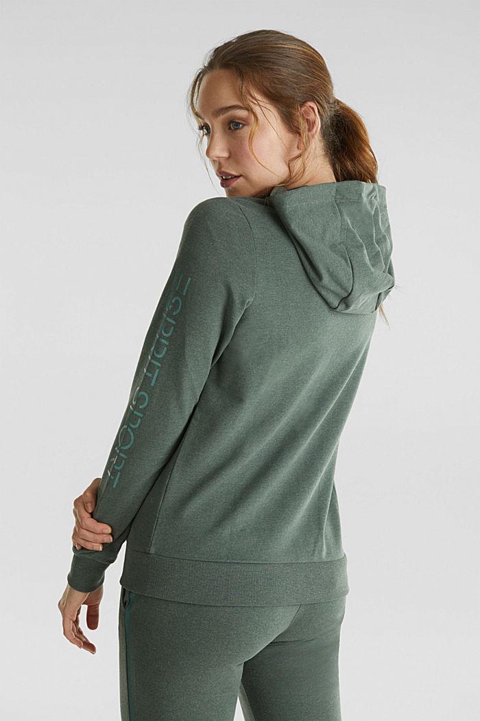 Sweatshirt cardigan with trendy details, LIGHT KHAKI, detail image number 3