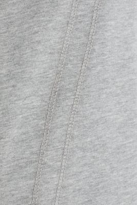 Sweatshirt fabric jacket with a drawstring collar, MEDIUM GREY 2, detail