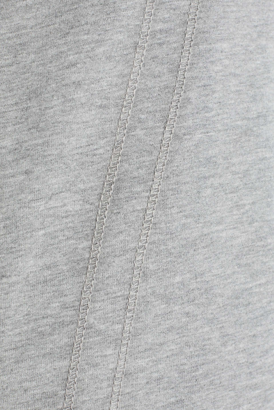 Melange sweatshirt jacket with a drawstring collar, MEDIUM GREY 2, detail image number 4
