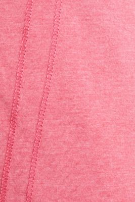 Sweatshirt cardigan with a drawstring collar, CORAL 2, detail
