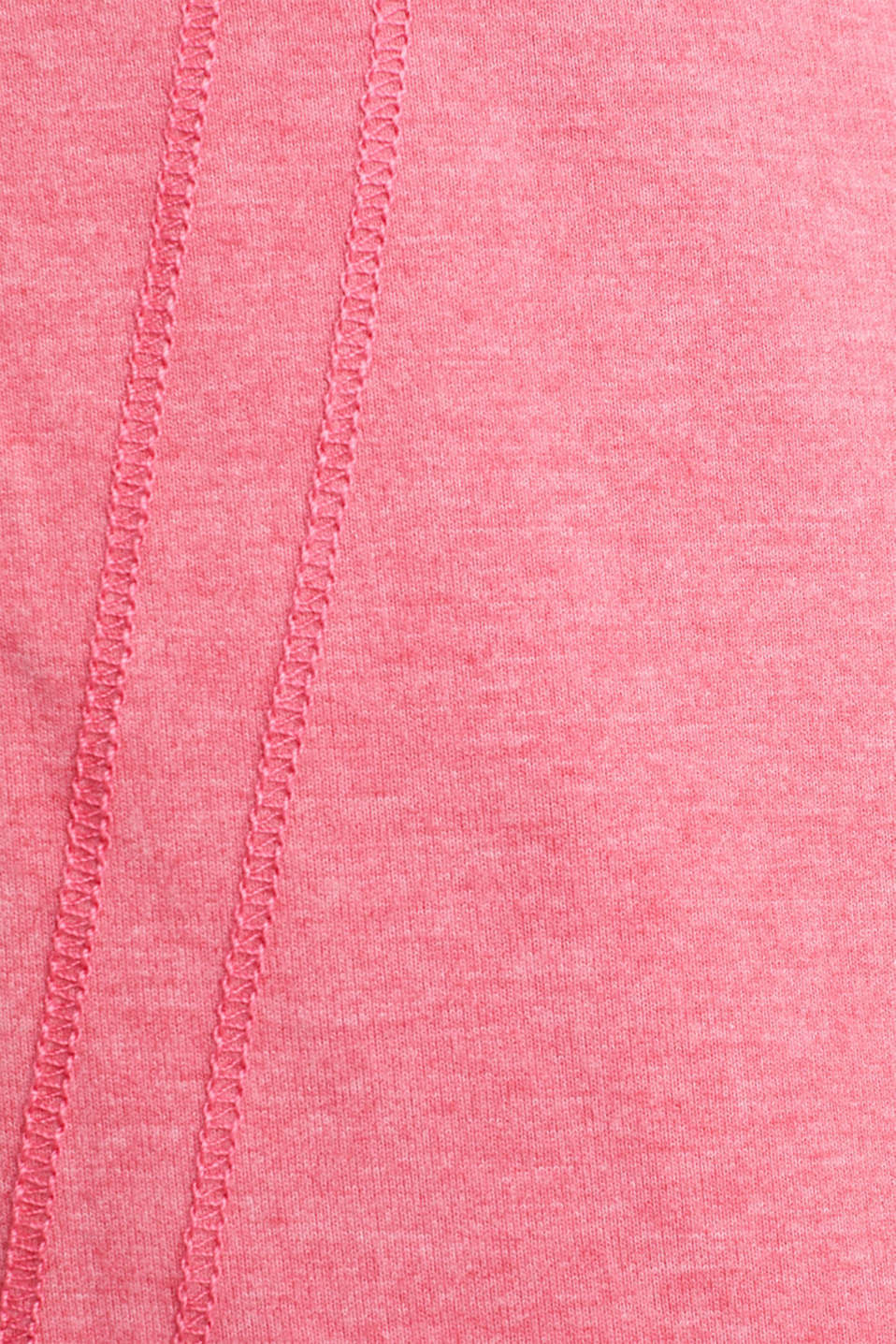 Sweatshirt cardigan with a drawstring collar, CORAL 2, detail image number 4