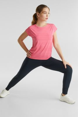 Active E-DRY top with accents, CORAL, detail