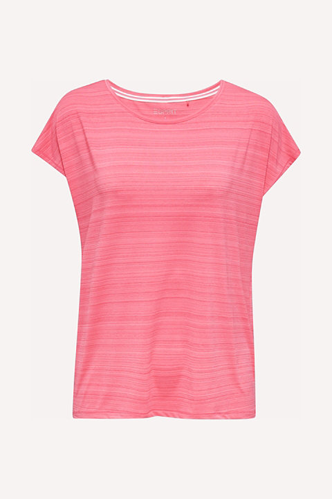 Active top with accent stripes, E-DRY
