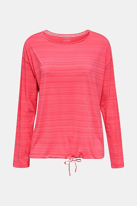 Active long sleeve top with a drawstring, E-DRY