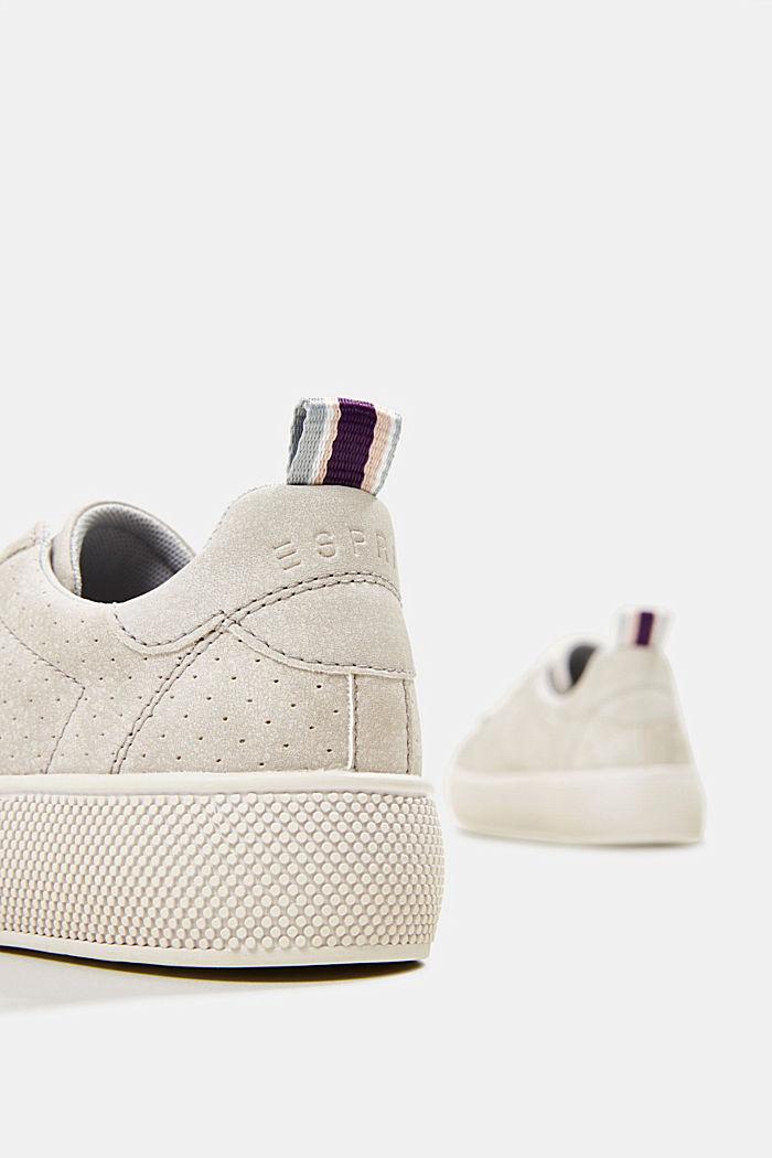 Sneakers in leerlook met een brede zool, LIGHT GREY, detail image number 5