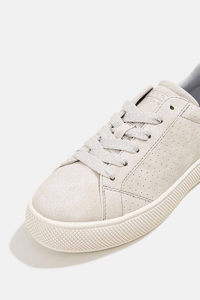 Sneakers in leerlook met een brede zool, LIGHT GREY, detail image number 4