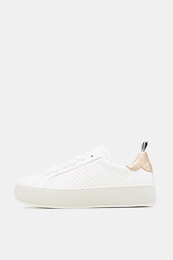 Platform trainers with a perforated pattern