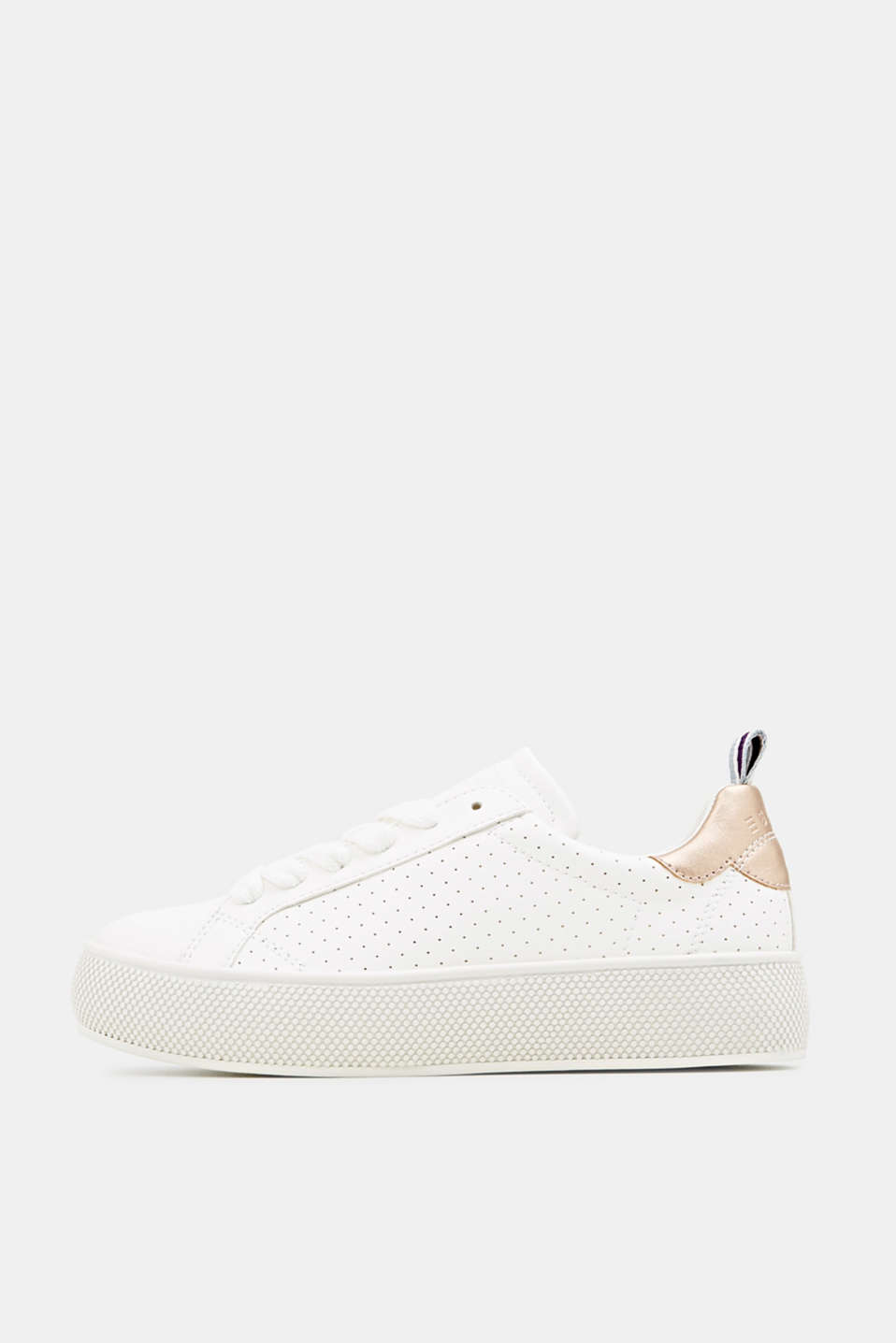 Esprit - Platform trainers with a perforated pattern