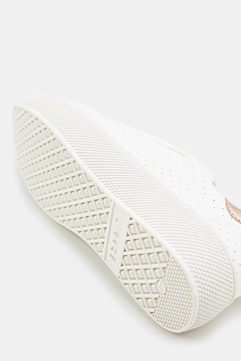 Platform trainers with a perforated pattern, WHITE, detail image number 4