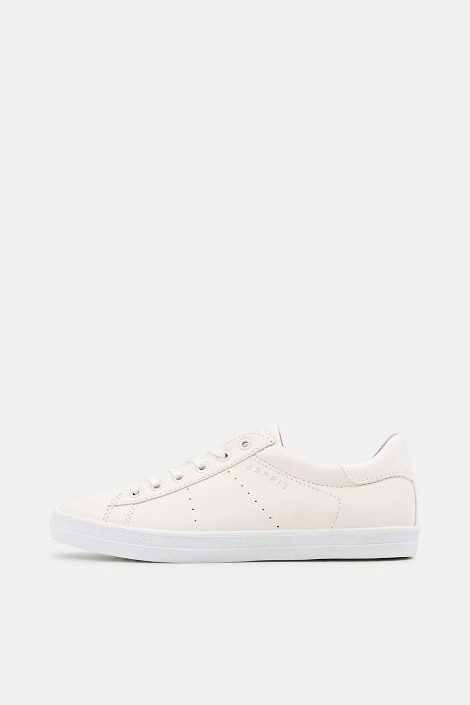 Esprit - Flat faux leather trainers